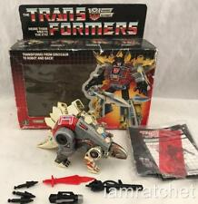 Transformers Original G1 1985 Dinobot Snarl Complete w/ TM Series 1 art Box