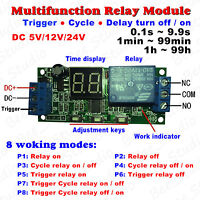 DC 5v 12v 24v Digital LED Cycle Delay Timer Relay Control Switch ON/OFF Module