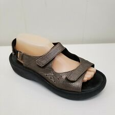 Wolky 41 Brown Sandals Shoes Tsunami Comfort 9.5 Open Toe