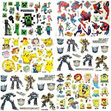 Temporary Tattoo Sheets stickers Children Kids Birthday Party Bag Filler