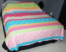 Company Kids Bedding Multi-Color Full Size Duvet Cover Bed Skirt Sheets EUC KH