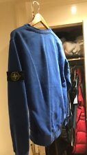 STONE ISLAND Sweater Crewneck Jumper Sweat Shirt Blue Mens Size M