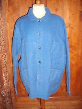Veste de travail ancienne en coton bleu