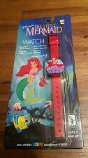 1989 Disney Princess Ariel The Little Mermaid Flip Top Cover Watch Sebastian