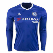 New Adidas CHELSEA Home LONG SLEEVE Soccer Football Jersey Shirt Men L AI7122