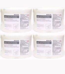4 ECOLAB Apex Metal Protection Metal-Safe Dish Machine Detergent Commercial Huge