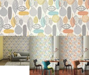 Arthouse Malmo Wallpapers in Ochre, Teal and Orange