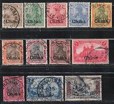 1905 Colonie allemande P.O. en Chine timbres, 1 C à 3 M utilisé, SG 36-44