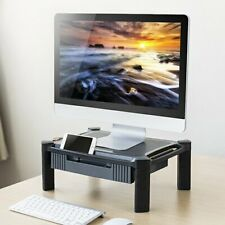 Height Adjustable Laptop MAC Printer Monitor Stand Riser Desk Tidy With Drawer
