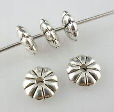 50pcs Tibetan silver UFO shape Dish Spacer Beads (Lead-free)