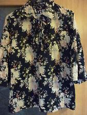 REBAJAS VERO MODA preciosa blusa camisa NEGRA CON FLORES TALLA  M 38,40,42