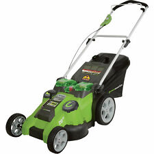 Greenworks 20-Inch 40V Dual Blade Cordless Lawn Mower 25302 New with Batteries