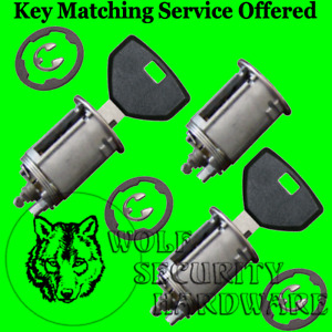 Jeep Wrangler 1991-98 Door Rear Key Lock Cylinder Set 2 Keys 1 1/8 dia face