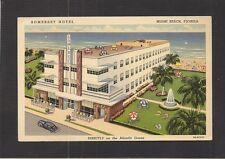LINEN PC:  SOMERSET HOTEL - MIAMI BEACH, FL - ART DECO - FREE BREAKFAST STICKER