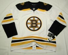 BOSTON BRUINS size 52 = Large ADIDAS NHL HOCKEY JERSEY Climalite Authentic Away