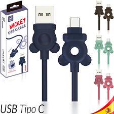 CABLE USB-C ALUMINIO MÓVIL TABLET TIPO C 1 metro MICKEY 480 Mbps CARGA RAPIDA