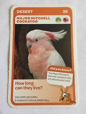 Taronga Zoo Woolworths Aussie Animal Card #36 Major Mitchell Cockatoo