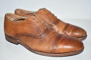 Grenson Matthew Brogues Formal Leather Mens Shoes Tan Brown UK 9 F EU 43 US 10