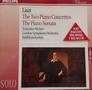 Liszt-Two Piano Concertos/Piano Sonata CD.1995 Philips 4462002.London Symphony.