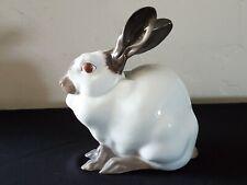 Royal Copenhagen Sitting Large White Rabbit (No. 4676) Figurine Mint
