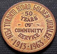 1913-1963 New Toronto Hydro Golden Jubilee 50th Anniversary Medal
