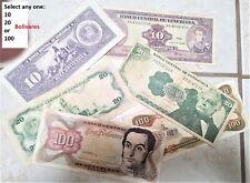 New listing Venezuela Paper Money * Select one:10, 20 or 100 Bolivares * Buy 2 willl send 3