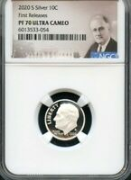 2020 S Silver Roosevelt Dime First Releases NGC PF70 U.C. Portrait Label