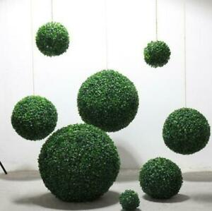 2Pcs Artificial 25Cm Green Boxwood Buxus Topiary Grass Hanging Ball Garden