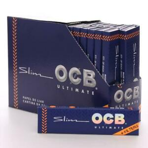 OCB ULTIMATE Blue King Size Slim Connoisseur Smoking Rolling 32 Paper Tips Roach