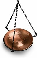 Elegant Industrial Style Copper Metal Hanging Birdbath