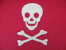 Skull and Crossbones Unpainted MDF shape / plaque