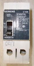Siemens type NGB2B125 Circuit Breaker 125 Amp