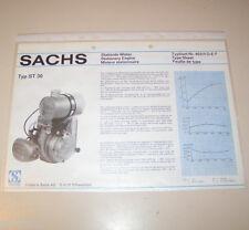 Typenblatt / Technische Daten Sachs Stationär Motor ST 30 - Stand 1974!