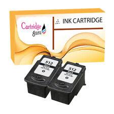 2 Black Remanufactured Ink For Canon Pixma MP260 MP270 MP272 PG-512
