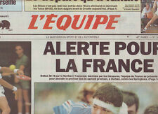 journal  l'equipe 23/06/93 RUGBY NORTHERN TRANSVAAL FRANCE LECONTE INDURAIN