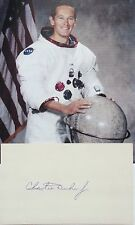 Charlie Duke Astronaut Apollo 16 Signed Autograph Card 10th Man To Walk On Moon