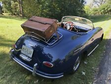 VINTAGE 1940's SADDLE BELTING LEATHER PORSCHE MG MIDGET CAR RACK SUITCASE R$4498