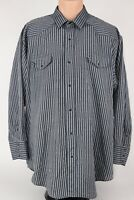 Karman Gold Collection Mens 2XL Gray Pearl Snap Button Up Western Shirt