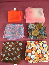 Women's Scarves Lot of early 70's Vintage Flower Child Floral Plus
