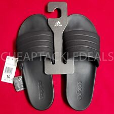 ADIDAS Men's Adilette CF+ CLOUDFOAM PLUS Mono Slides Sandals Slippers BLACK 10