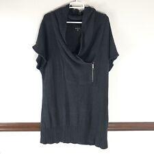 Alyx Womans Long Sweater Size 1X Short Sleeve Shawl Neck