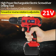 21V Li-ion Battery Cordless Drill Rechargeable Electric Screwdriver Drill Tool