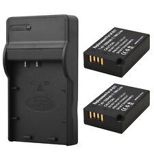 2 x 1500mAh LP-E17 Battery Pack+Charger For Canon EOS 750D 760D M3 M5 T6i T6s