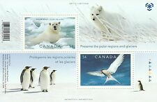 Canada 2009 Souvenir Sheet Preserve the Polar Regions - Penguins Polar Bear