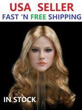 """1/6 Avril Lavigne Blonde Curly Hair Head Sculpt For 12"""" PHICEN TBLeague Figure"""