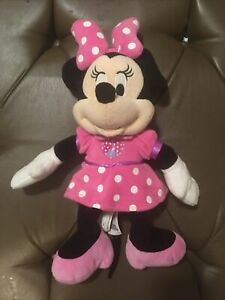 "Minnie Mouse Clubhouse Fun Disney Plush Pink Stuffed Talking Toy 14"" Working"