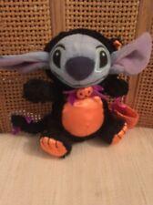 EUC DIsney Store Stitch Halloween Black Cat Costume Plush 6 inch