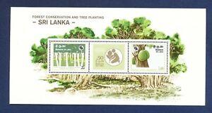 SRI LANKA - Scott 622  - FVF MNH S/S  - Forest Conservation, Trees - 1981