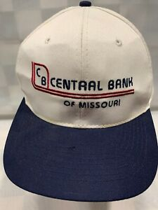 CENTRAL BANK Of Missouri Vintage Snapback Adult Cap Hat