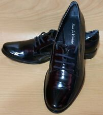 Pour La Victoire Black Patent Leather Oxfords Womens Shoes 8